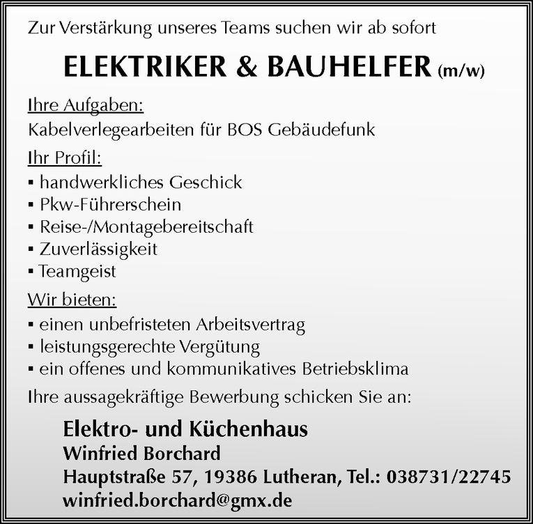Elektriker & Bauhelfer (m/w)