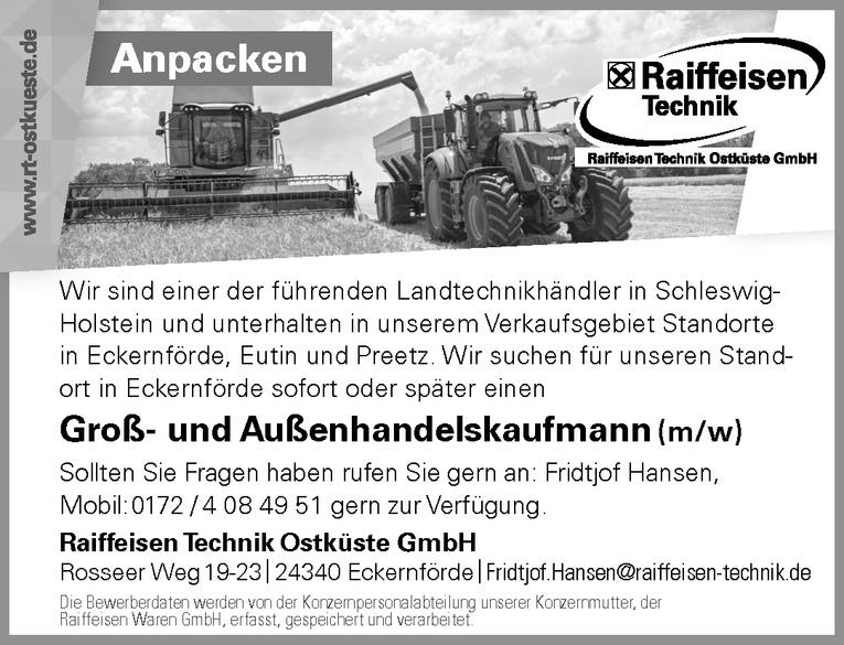 Groß- und Außenhandelskaufmann (m/w)