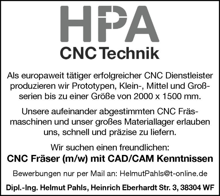 CNC Fräser (m/w)
