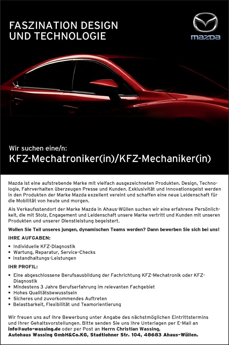 KFZ-Mechatroniker(in) / KFZ-Mechaniker(in)