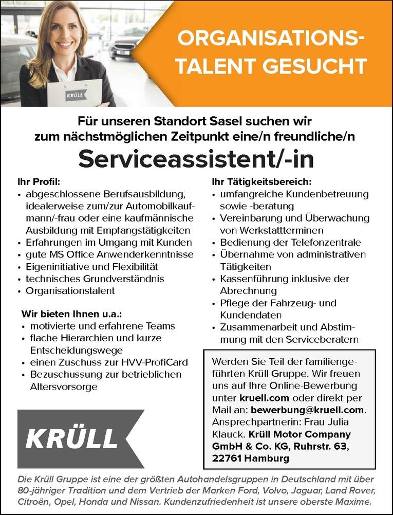 Serviceassistent/-in