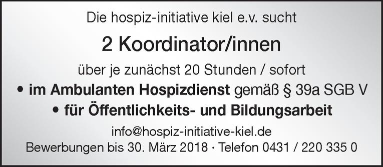 Koordinator/in im Ambulanten Hospizdienst