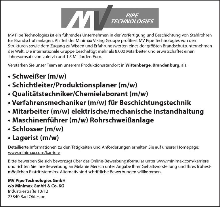Maschinenführer (m/w)