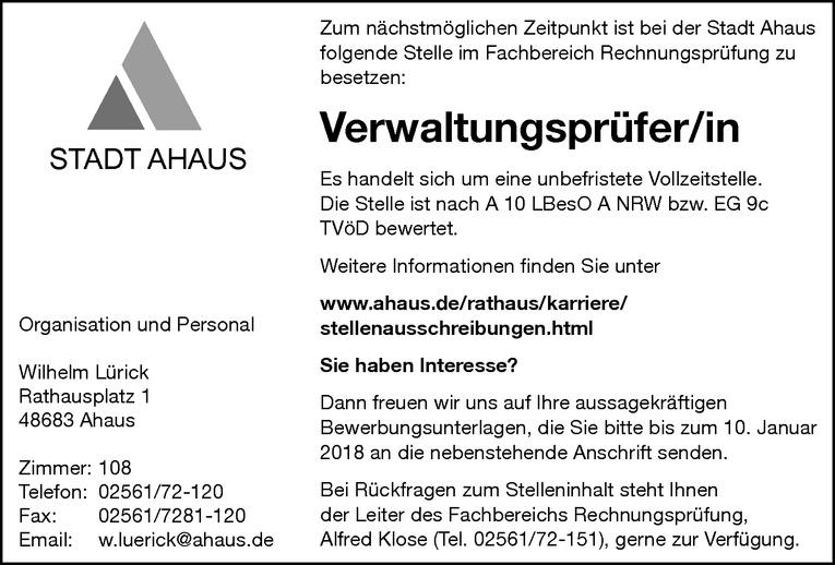 Verwaltungsprüfer/in