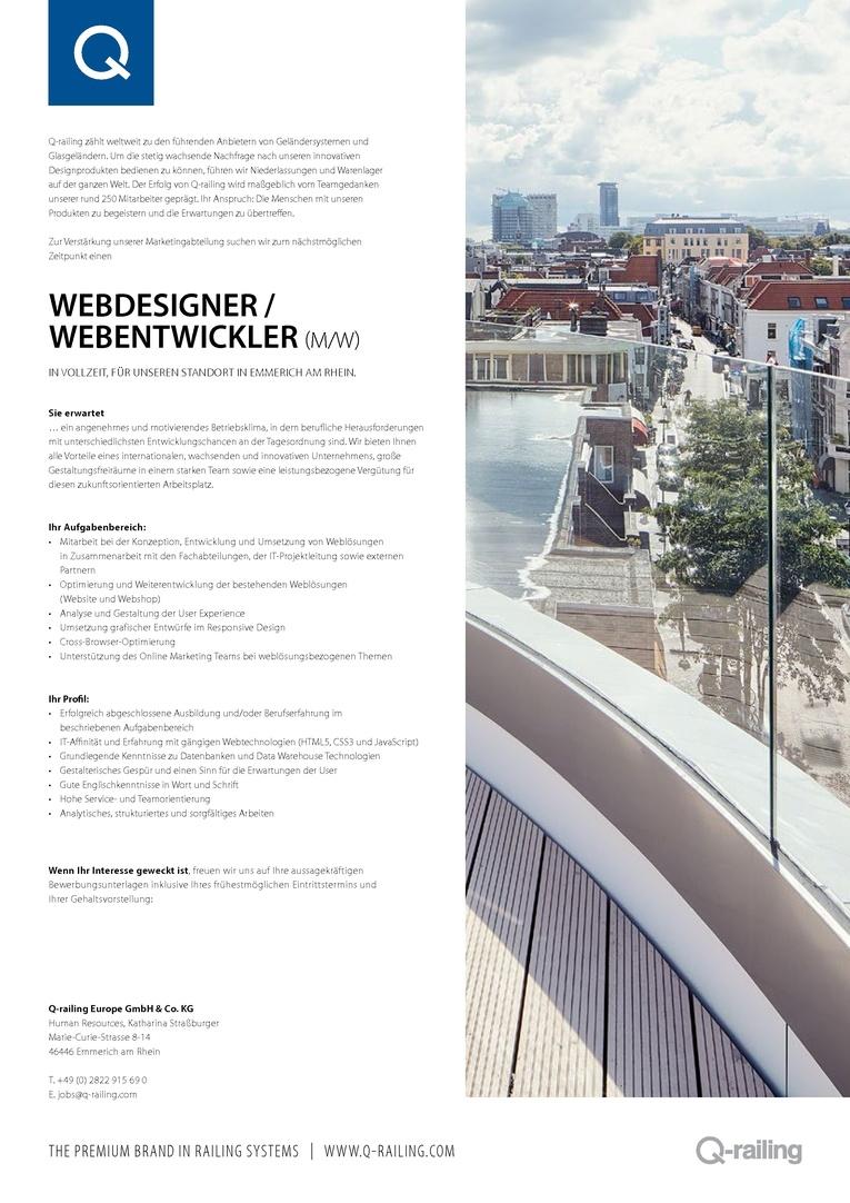 Webdesigner / Webentwickler (m/w)