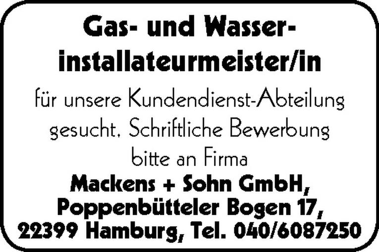 Gas- und Wasserinstallateurmeister/in