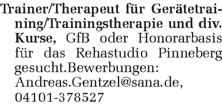 Trainer/Therapeut