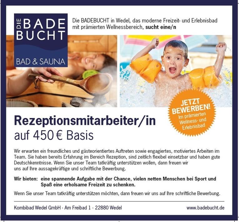 Rezeptionsmitarbeiter/in auf 450 € Basis