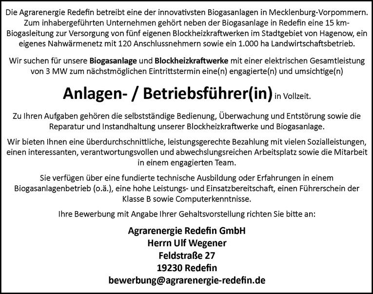 Anlagen- / Betriebsführer(in)