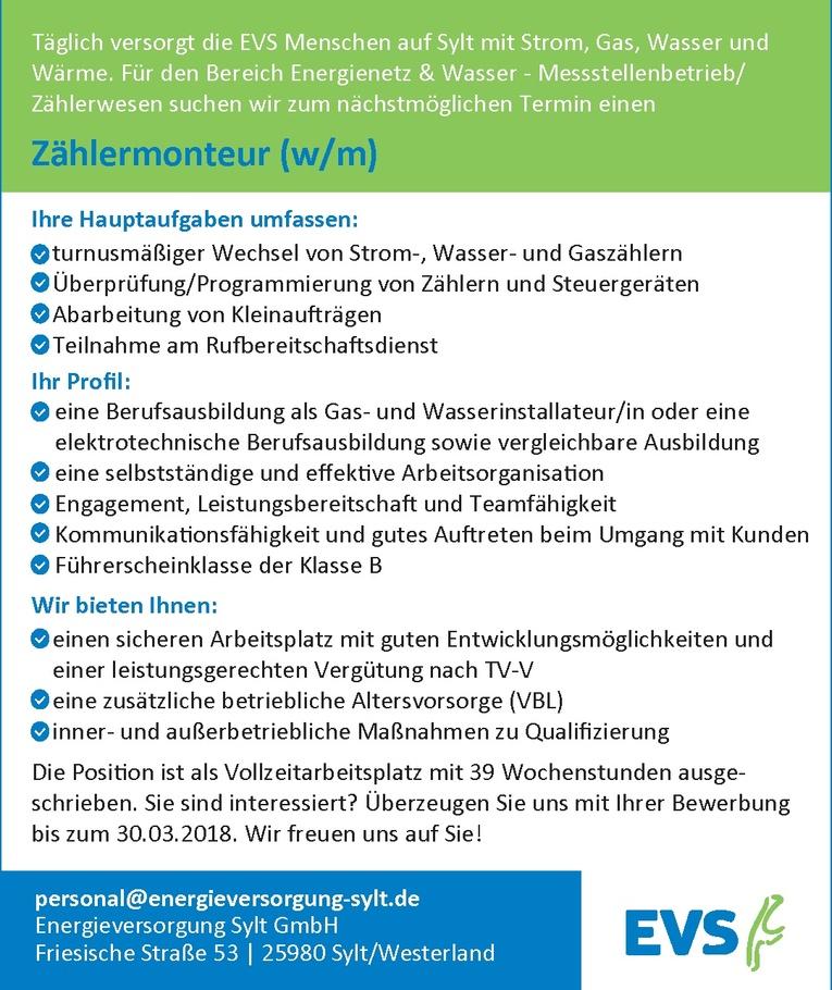 Zählermonteur (w/m)
