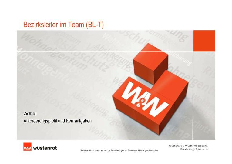 W&W Bezirksleiter/in im Team