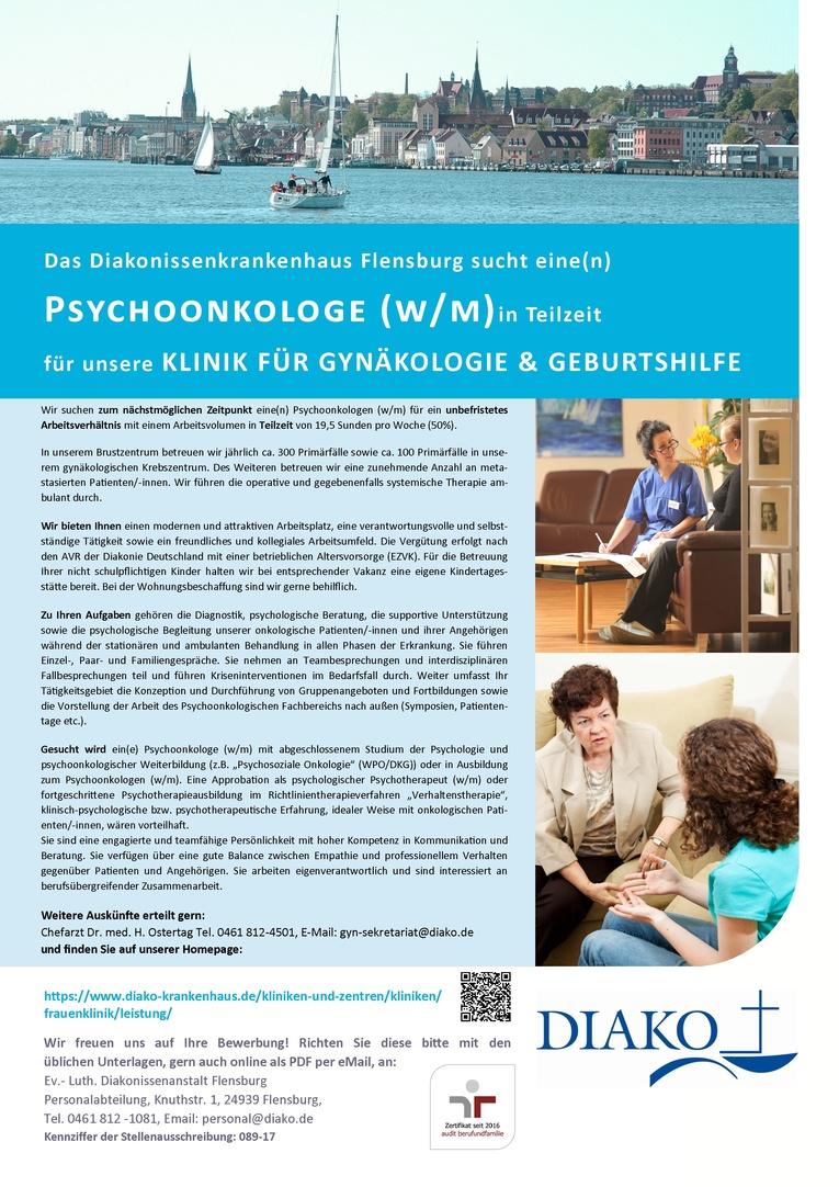 Psychoonkologe (w/m) bzw. Dipl.-Psychologe (w/m)