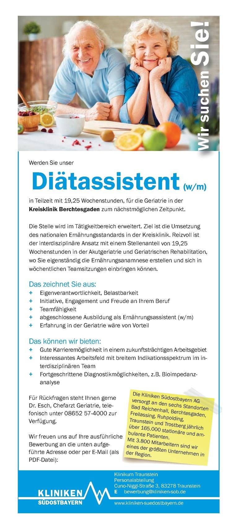 Diätassistent (w/m)