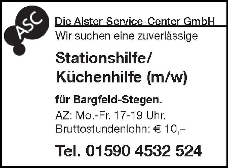 Stationshilfe/Küchenhilfe (m/w)
