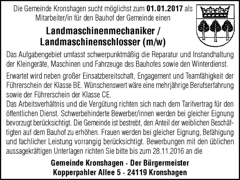 Landmaschinenmechaniker / Landmaschinenschlosser (m/w)