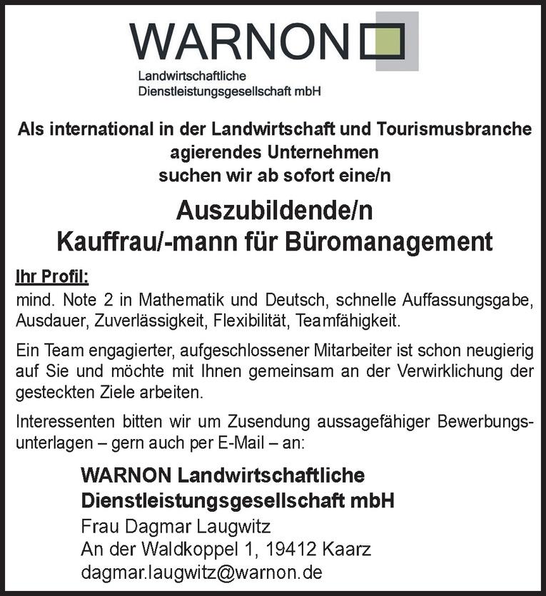 Auszubildende/n Kauffrau/-mann für Büromanagement