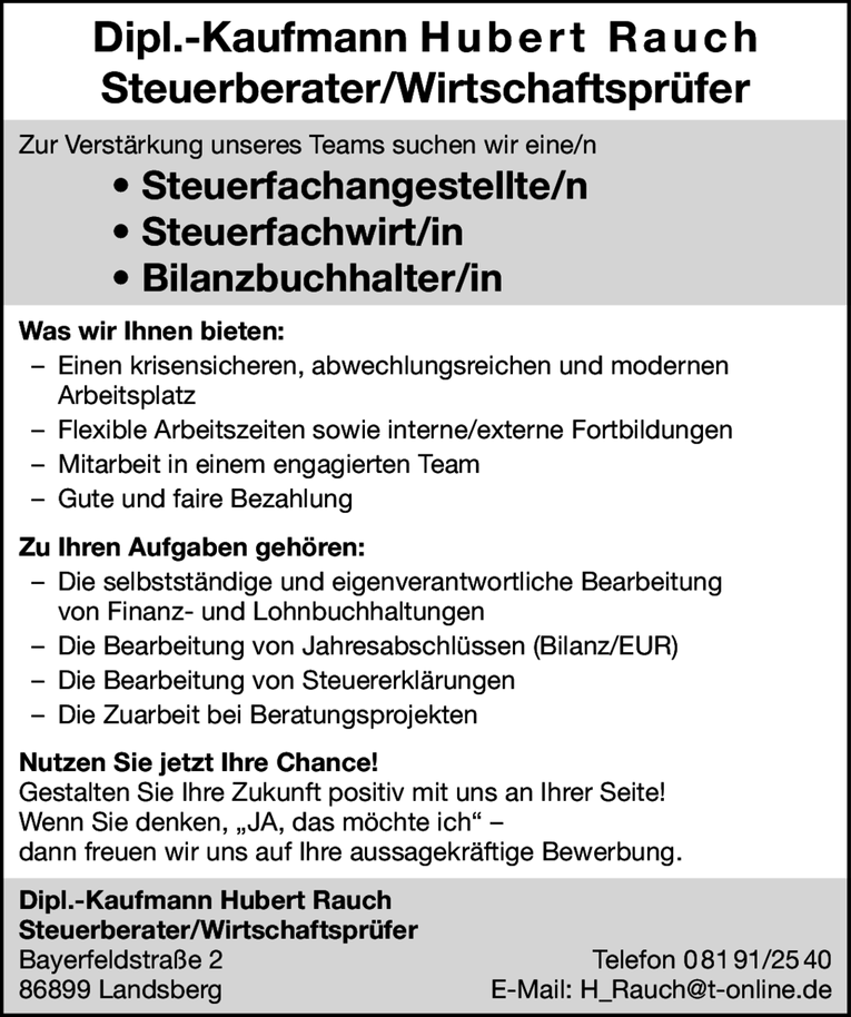 Job Steuerfachangestellten