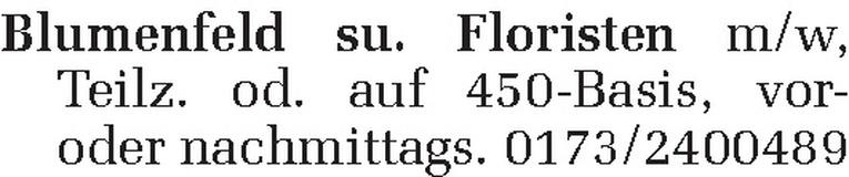 Floristen m/w