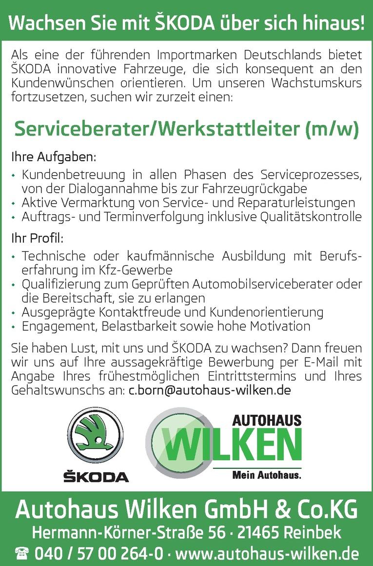 Serviceberater/Werkstattleiter (m/w)