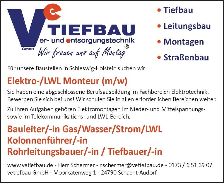 Rohrleitungsbauer/-in / Tiefbauer/-in