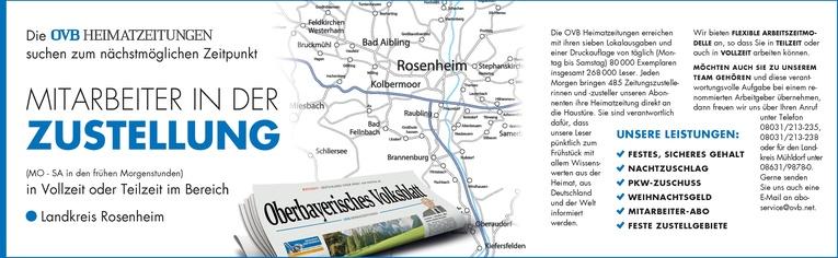 Mitarbeiter in der Zustellung für den Landkreis Rosenheim