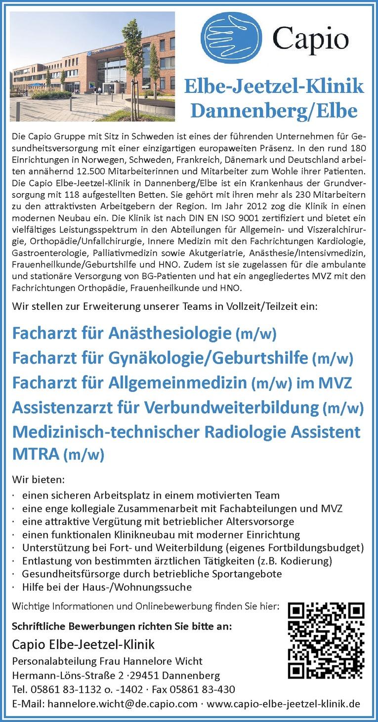 Facharzt für Gynäkologie/Geburtshilfe (m/w)