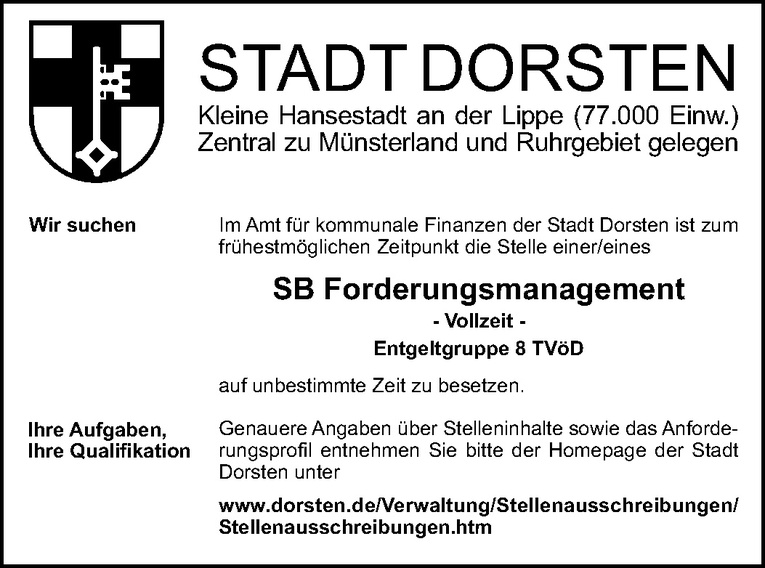 SB Forderungsmanagement (m/w)