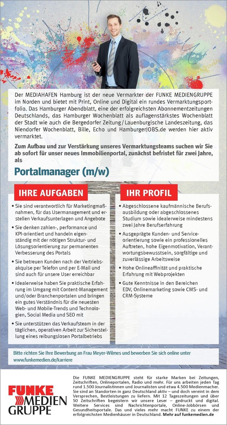 Portalmanager (m/w)