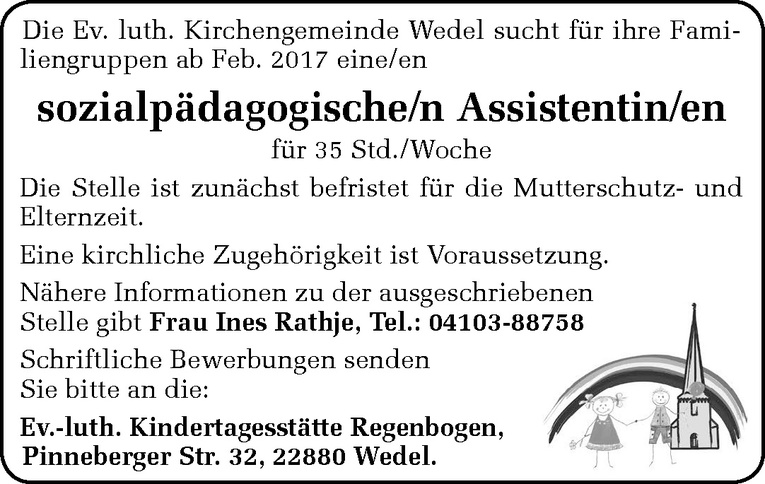 sozialpädagogische/n Assistentin/en