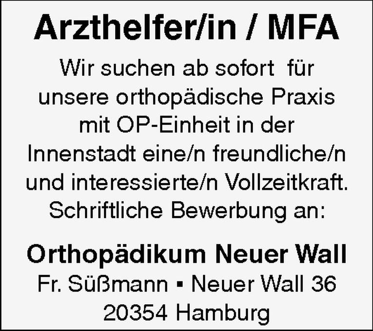 Arzthelfer/in / MFA