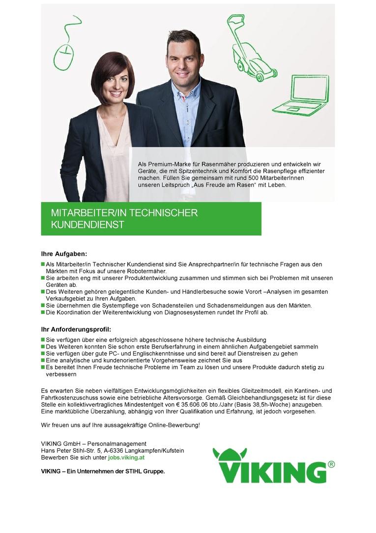 Mitarbeiter/in Technischer Kundendienst