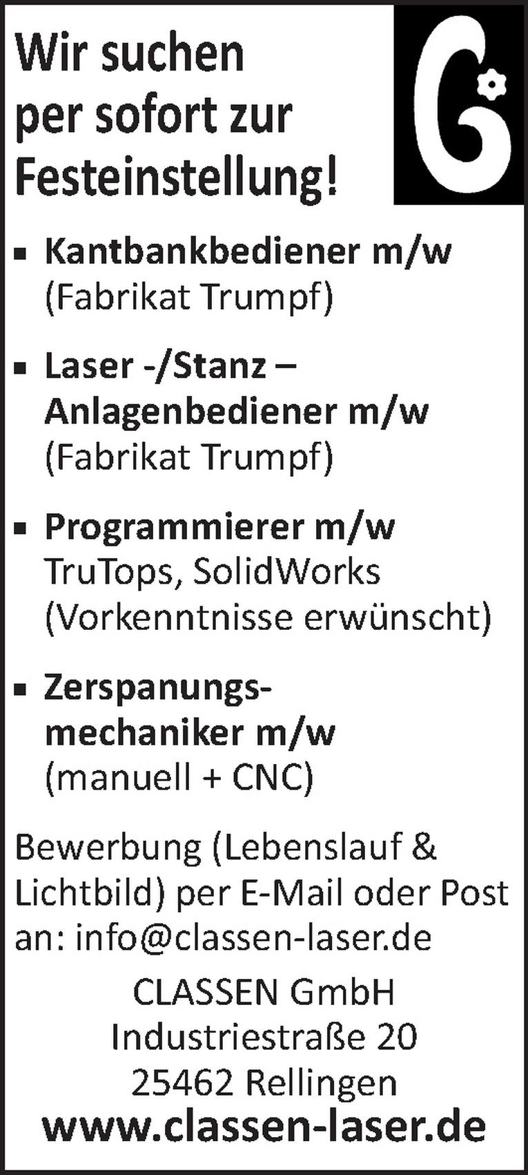 Programmierer m/w