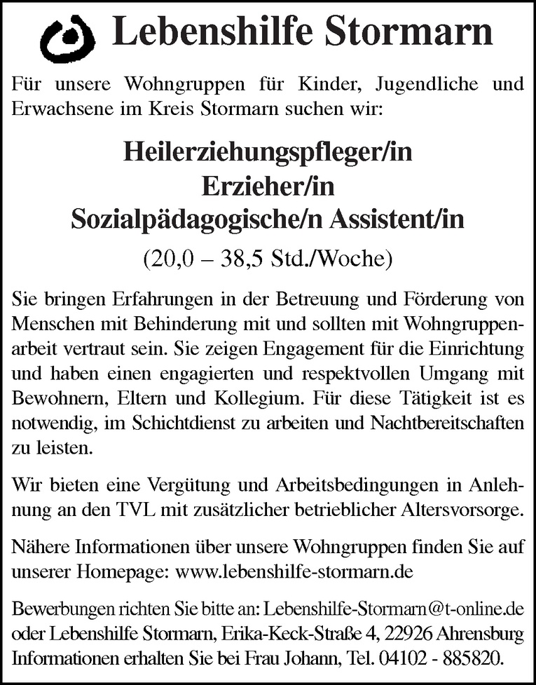Sozialpädagogische/n Assistent/in