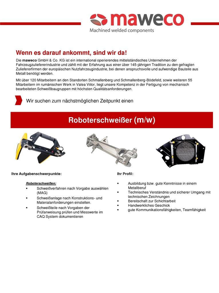 Roboterschweißer (m/w)