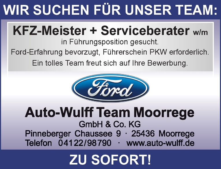 KFZ-Meister + Serviceberater w/m