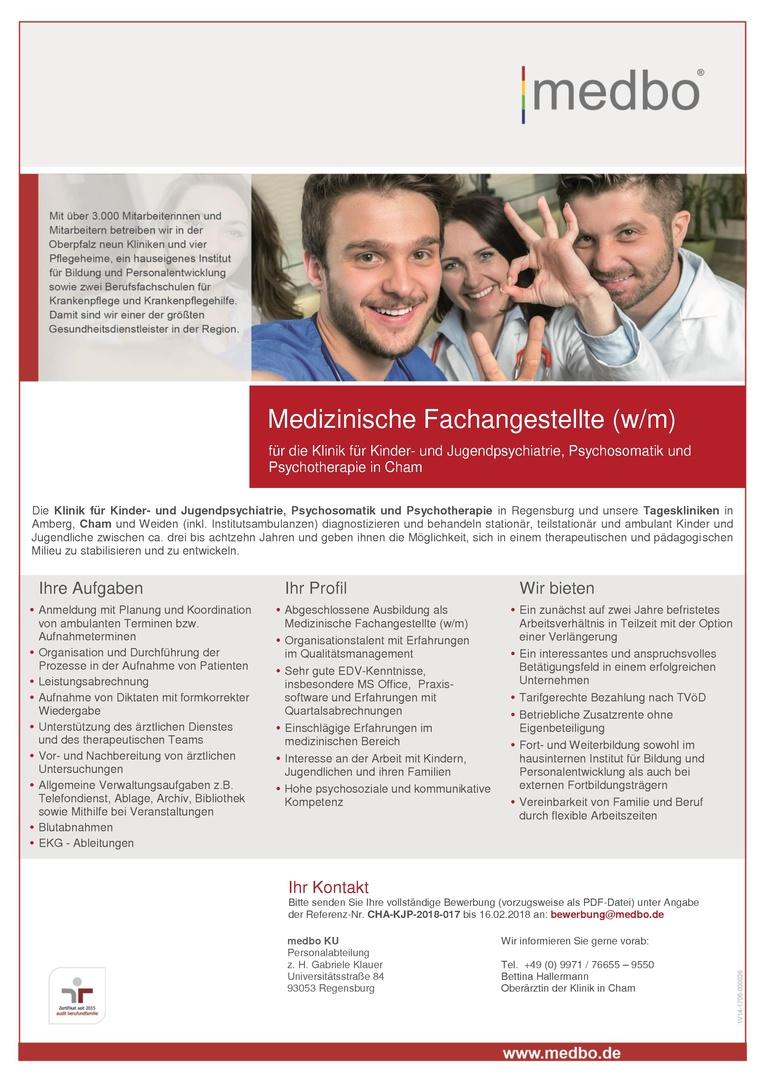Medizinische Fachangestellte (w/m)