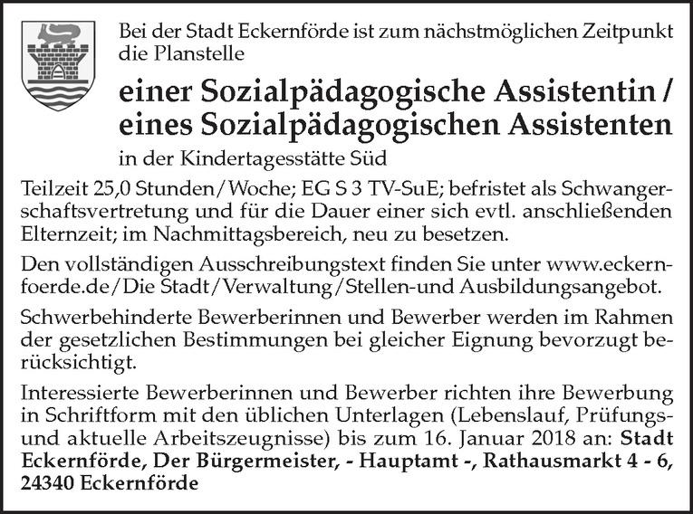 Sozialpädagogische Assistentin / Sozialpädagogischer Assistent