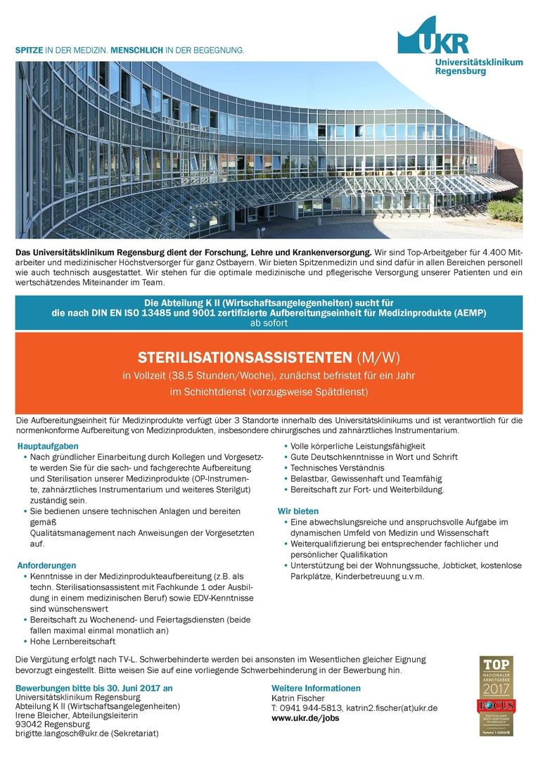 STERILISATIONSASSISTENTEN (M/W)
