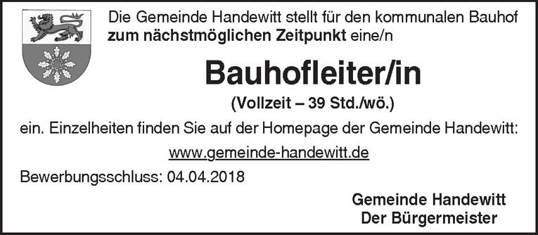 Bauhofleiter/in