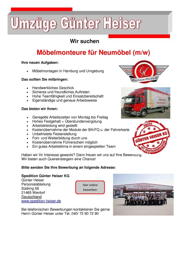 Möbelmonteure (m/w)