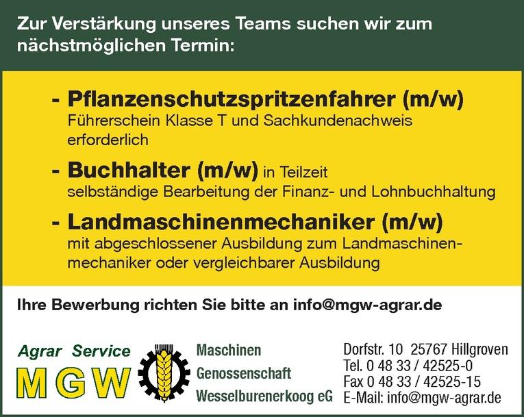 Pflanzenschutzspritzenfahrer (m/w)