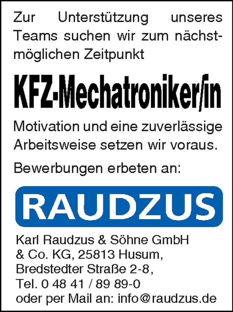 KFZ-Mechatroniker/in