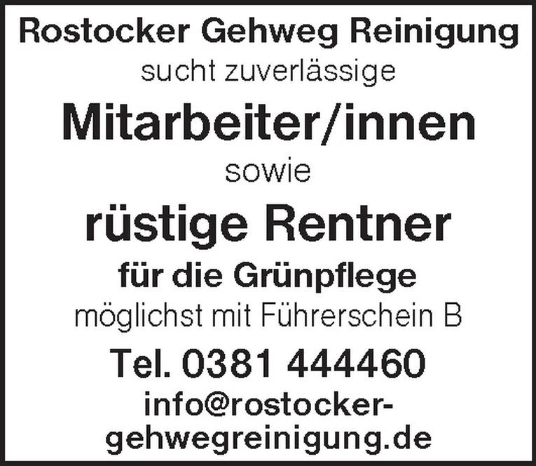 Mitarbeiter/innen / rüstige Rentner für die Grünpflege