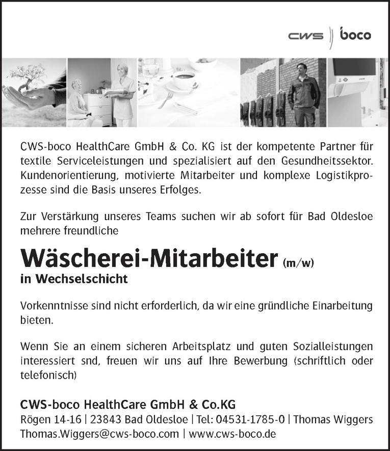 Wäscherei-Mitarbeiter (m/w)