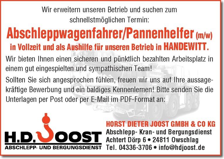 Abschleppwagenfahrer/Pannenhelfer (m/w)