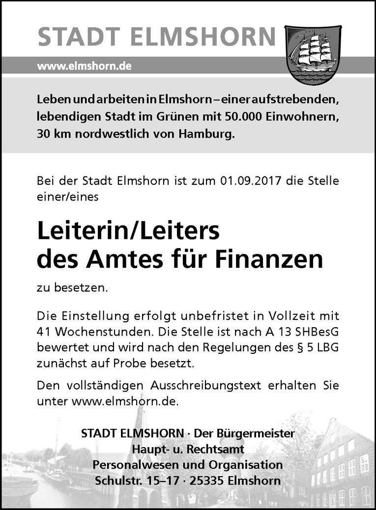 Leiterin / Leiters des Amtes für Finanzen