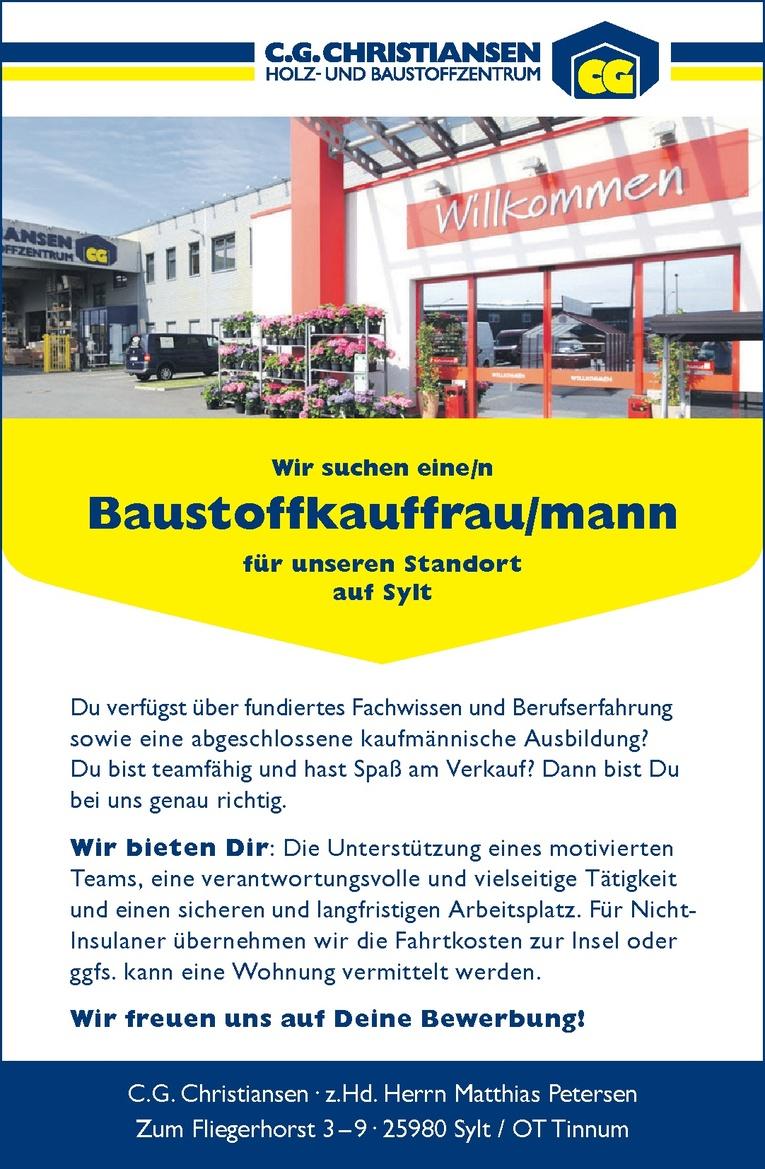 Baustoffkauffrau/mann