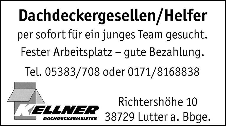 Dachdeckergesellen / Helfer