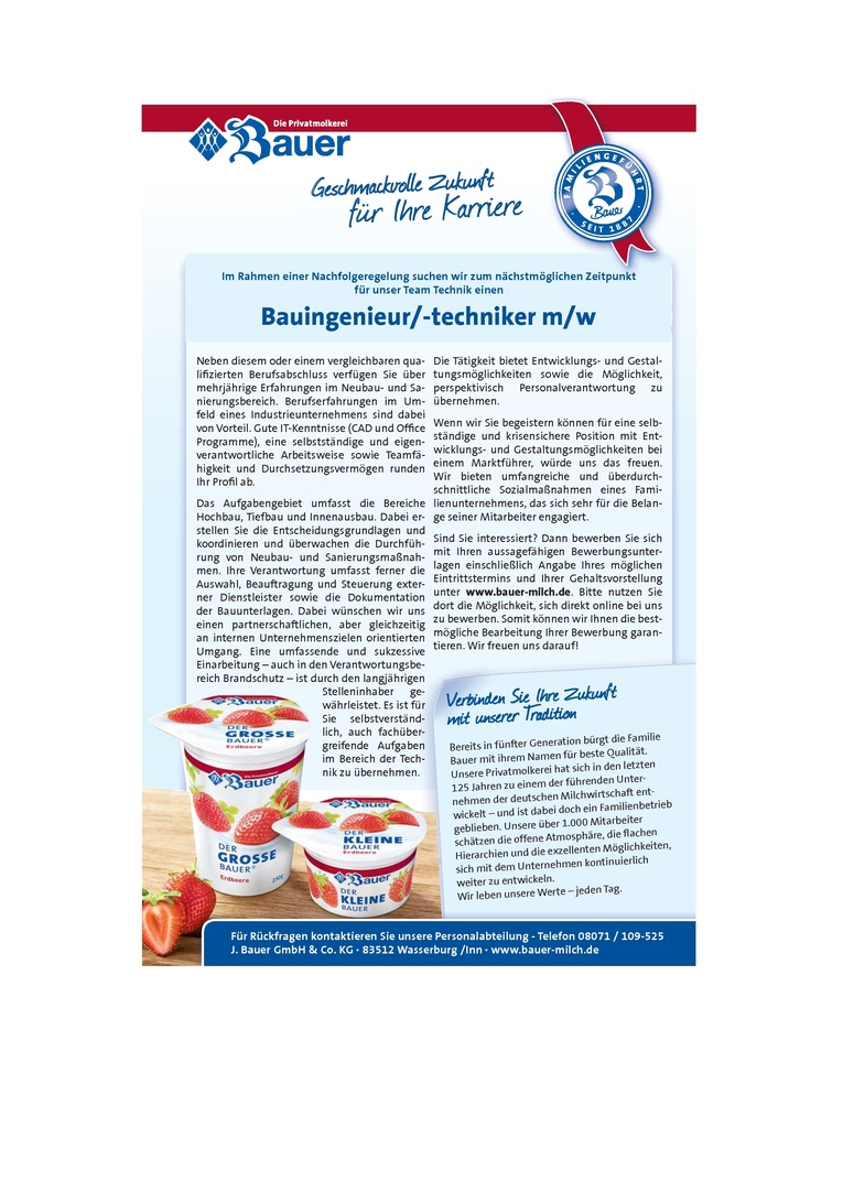 Bauingenieur/ -techniker (m/w)
