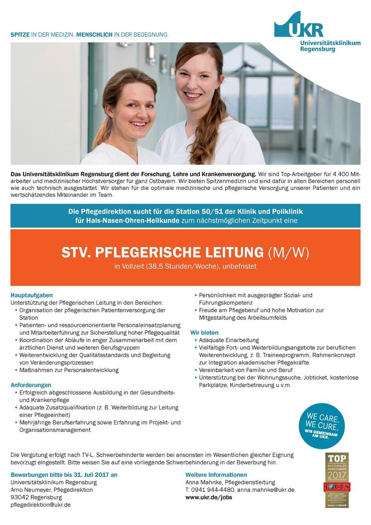 STV. PFLEGERISCHE LEITUNG (M/W)